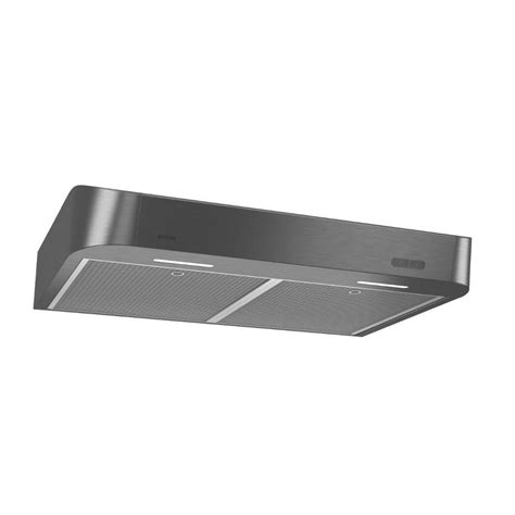 black under cabinet range hood shop broan undercabinet range hood black stainless steel