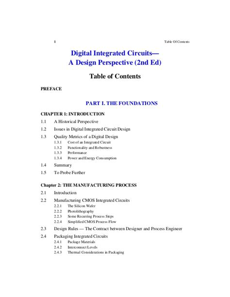 digital integrated circuits by rabaey 2nd ed solution manual rabaey digital integrated circuits a design perspective