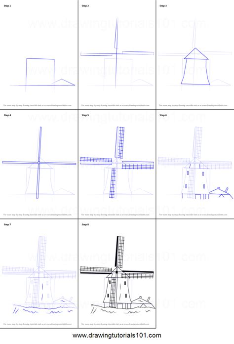 How To Draw A Windmill Step By Step For how to draw a windmill printable step by step drawing