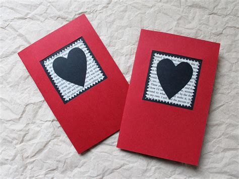 valentines card to make a handmade card black and the printed