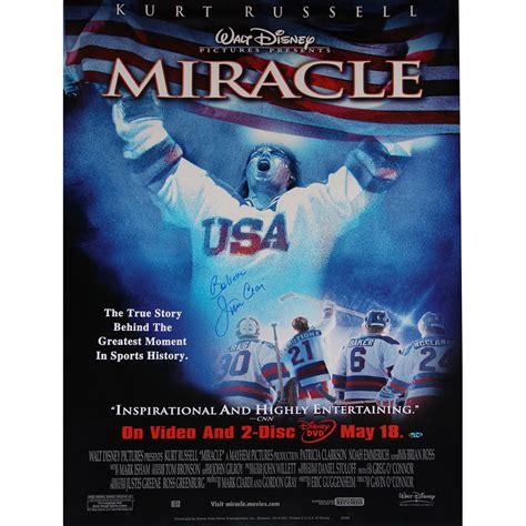 The Miracle Poster Jim Craig Autographed Miracle Poster Shopusahockey