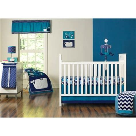 Whale Crib Bedding Set Buy 174 Whale Of A Tale 4 Crib Bedding Set From Bed Bath Beyond