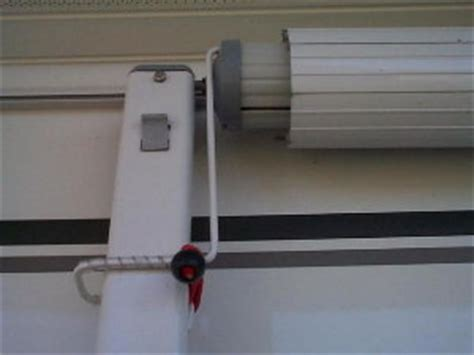 rv awning lock prevent billowing awning