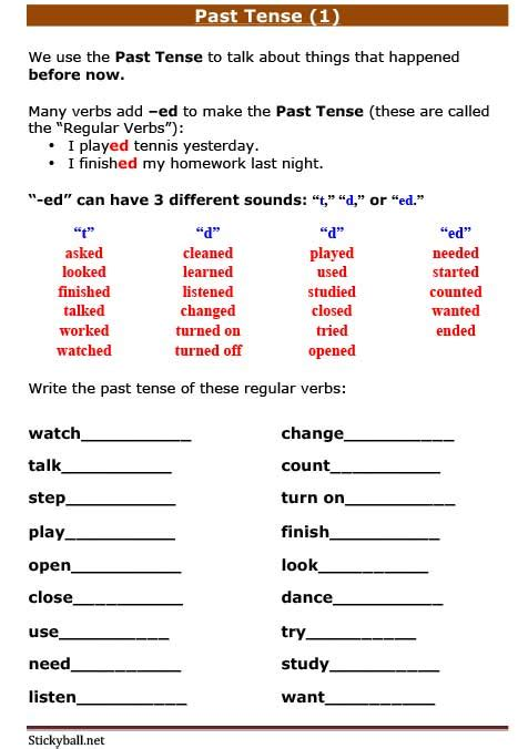 grammar past present future tense worksheets esl grammar worksheets past tense 1