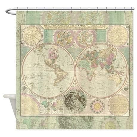 vintage map shower curtain bowles antique map shower curtain original works of art