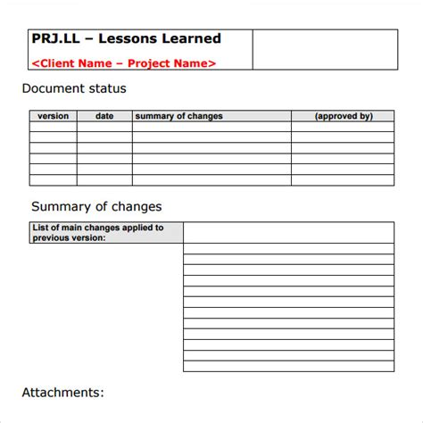 lessons learned project management template sle lessons learned 5 documents in pdf word excel