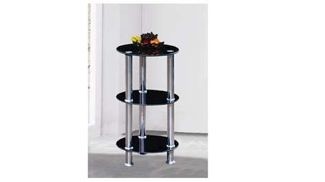 3 Tier Glass Shelf by Black Glass Shelf Stand 3 Tier Homegenies