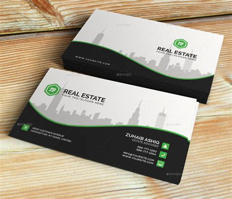 real estate business card template  themedesk
