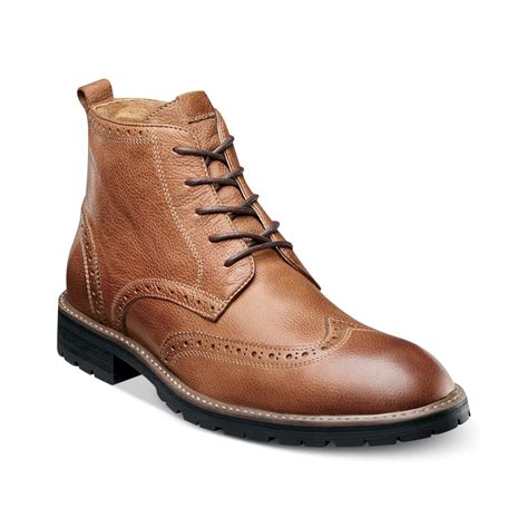 wing tip boots lyst florsheim gaffney wingtip laceup boots with
