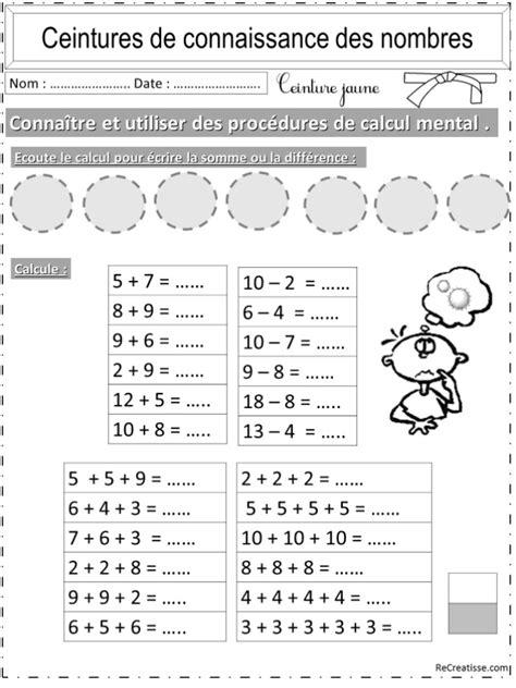 Numeration Ceintures Connaissance Des Nombres Et Calcul