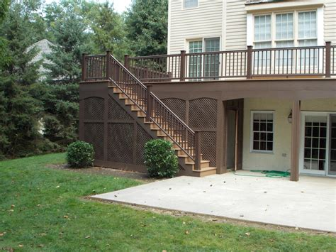 How To Fix Drainage Problem In Backyard Your Deck Options Options On Deck Railing Lighting