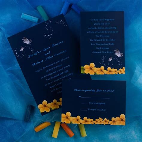 Wedding Invitation Yellow Background by Inexpensive Butterfly And Yellow Flower Wedding