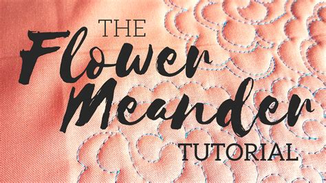 How To Meander Quilt by Quilting Is Therapy Machine Quilting The Flower Meander A Tutorial Quilting Is