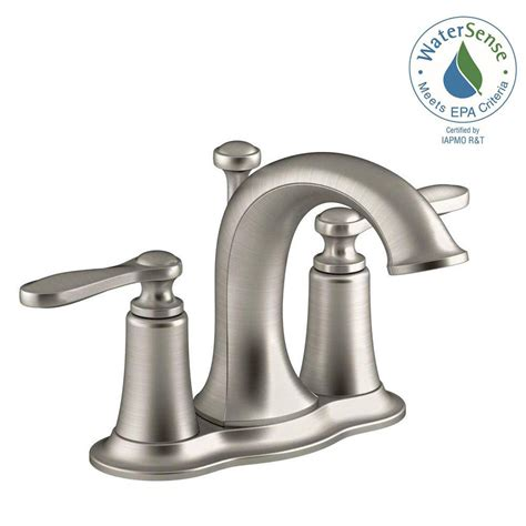 bathroom water faucet kohler linwood 4 in centerset 2 handle water saving