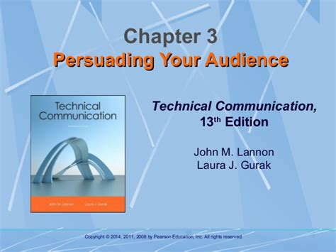 technical communication chapter 3 persuading your audience