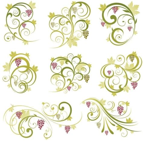 abstract vine pattern abstract floral vine grape ornament vector free vector in