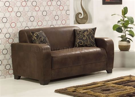 suede loveseat brown suede modern sofa w optional loveseat chair