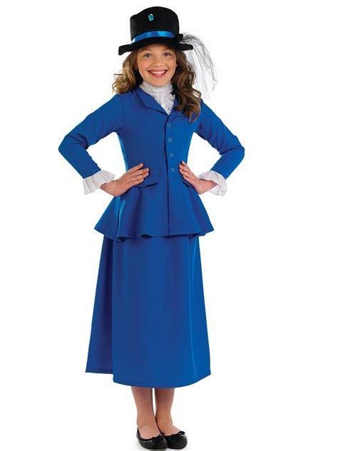 Nanies Dress blue poppins nanny fancy dress costume book week ebay