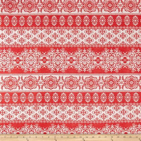 floral patterned jersey fabric jersey knit floral print coral white discount designer