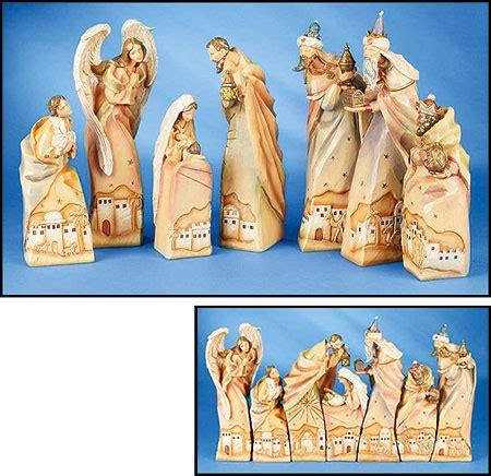 resin 12 piece david jones nativity set 7 pc scenic nativity set