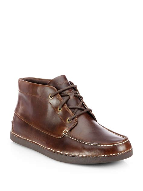 brown chukka boots ugg kaldwell chukka boots in brown for lyst