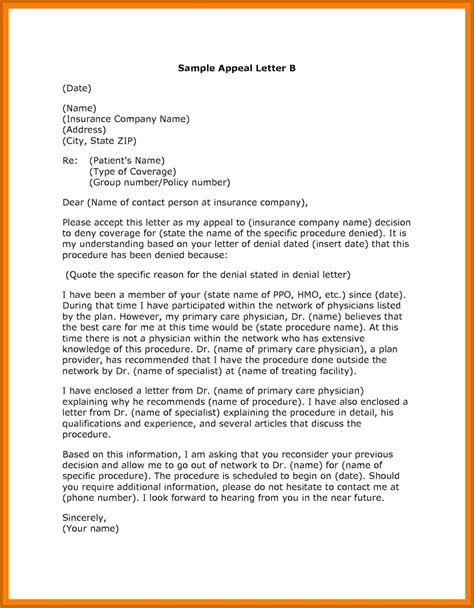 grievance appeal letter template 7 8 grievance appeal letter resumetablet