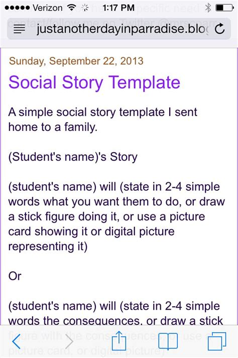 social story template 1000 images about social stories on