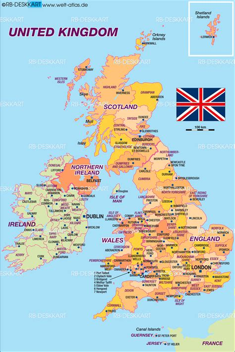 great britain map map of united kingdom great britain politically map