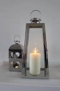 Large Silver Candle Lanterns Large Silver Tapered Hurricane Lantern Candle Holder