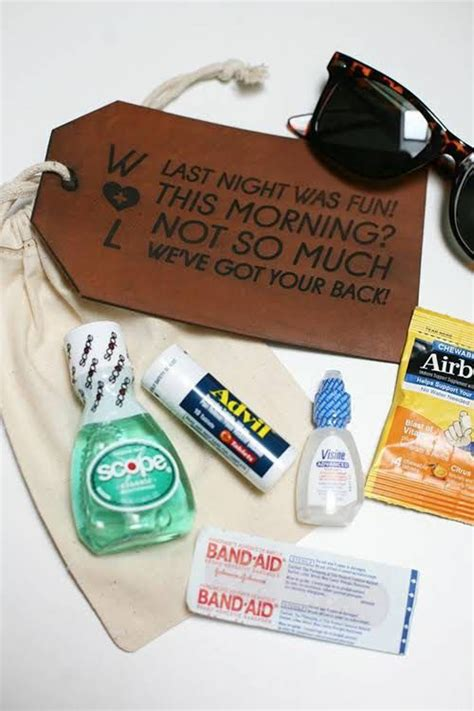 wedding gift kits 1000 ideas about hangover kit wedding on hangover kits bachelorette hangover kits