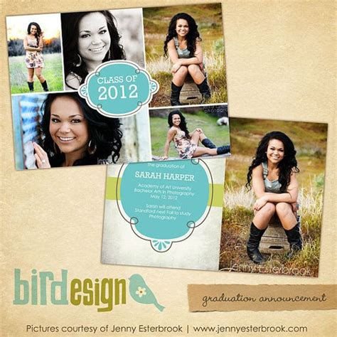 instant download graduation announcement photoshop