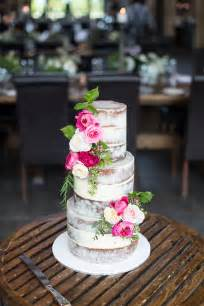Design Your Own Home Melbourne semi naked wedding cake with fresh florals with alisha