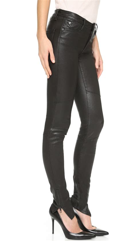 stretch leather superfine rebel luxe stretch leather in black lyst