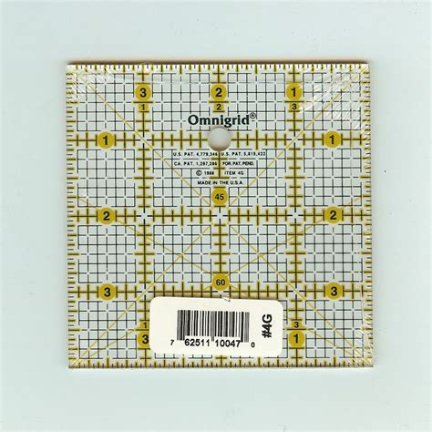 4 Inch Square Quilt Pattern by Omnigrid 4 Inch Square Ruler Quilting Notion Ebay