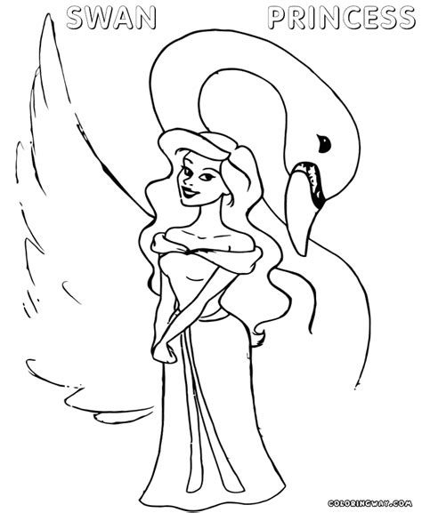 swan coloring pages swan princess coloring pages coloring pages to