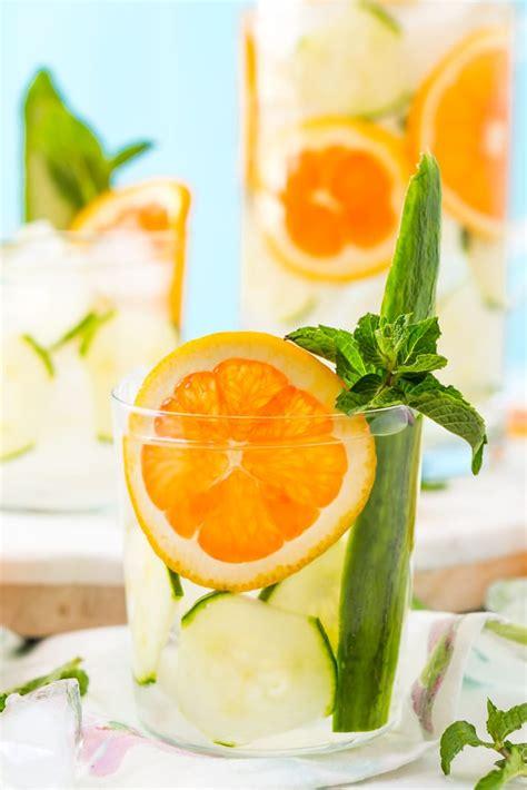 Orange And Cucumber Detox Water by Mint Orange Cucumber Water Recipe Sugar Soul