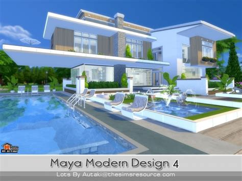 Home Design For Sims 4 by The Sims Resource Maya Modern Design 4 By Autaki Sims 4