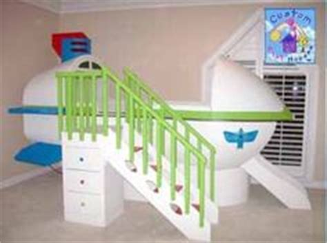 Buzz Lightyear Bunk Bed With Slide Space Ship Themed Play Loft Bed By Custom Playhouses