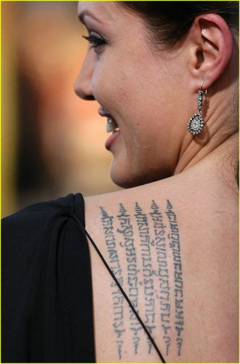 tattoo angelina jolie betekenis tattoo removal angelina jolie s tattoos pictures