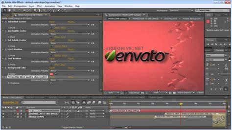 after effects tutorial ink drops logo reveal after effects tutorial abstract water drops logo reveal