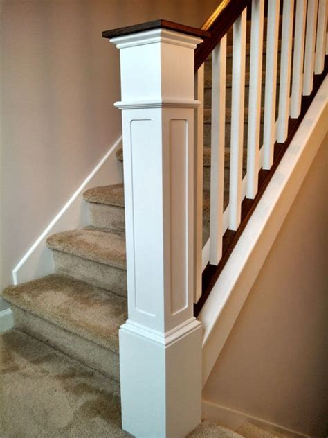 newal post 55 recessed flush panel box newel post primed by