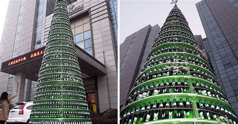 christmas trees made of bottles tree made from bottles reaches 10m mirror