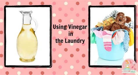 using vinegar in the laundry stay at home mum