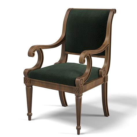 armchair classic 3d model classic chair stool