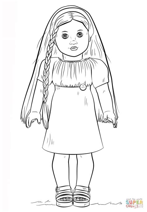 coloring page of doll image result for american girl doll coloring pages party