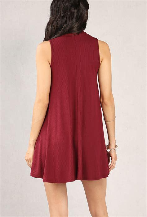 neck swing dress ribbed mock neck swing dress shop dresses at papaya clothing