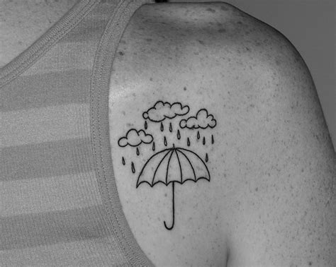 umbrella tattoo pinterest umbrella tattoo with clouds and rain tattoo pinterest