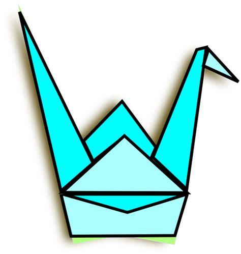 Origami Crane Clipart - blue origami crane clip at clker vector clip