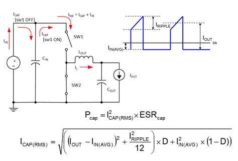 capacitor output current input and output capacitor considerations in a synchronous buck converter power house blogs