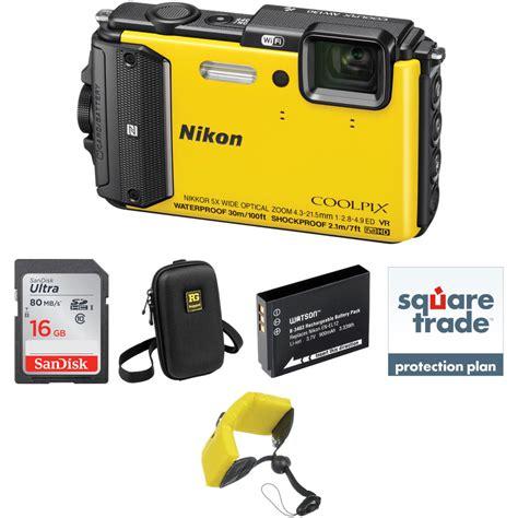 nikon waterproof nikon nikoncoolpix aw130 waterproof digital deluxe kit